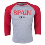 Spain Euro 2016 3/4 Sleeve Core T-Shirt (Heather Red)