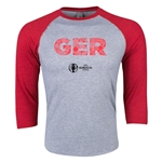Germany Euro 2016 3/4 Sleeve Elements T-Shirt (Heather Red)