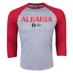 Albania Euro 2016 3/4 Sleeve Core T-Shirt (Heather Red)