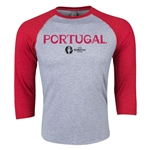 Portugal Euro 2016 3/4 Sleeve Core T-Shirt (Heather Red)