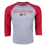 Switzerland Euro 2016 3/4 Sleeve Core T-Shirt (Heather Red)
