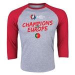 Portugal UEFA Euro 2016 Champions 3/4 Sleeve T-Shirt (Heather Red)