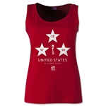 USA Women's World Cup Champions Women's Scoopneck Tank (Red)
