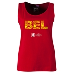 Belgium Euro 2016 Elements Women's Scoopneck Tank (Red)
