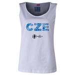 Czech Republic Euro 2016 Elements Women's Scoopneck Tank (White)