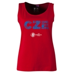Czech Republic Euro 2016 Elements Women's Scoopneck Tank (Red)