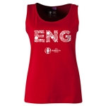 England Euro 2016 Elements Women's Scoopneck Tank (Red)