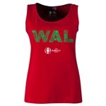 Wales Euro 2016 Elements Women's Scoopneck Tank (Red)