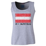 Austria Euro 2016 Flag Women's Scoopneck Tank (Grey)