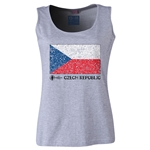 Czech Republic Euro 2016 Flag Women's Scoopneck Tank (Grey)