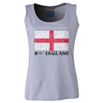 England Euro 2016 Flag Women's Scoopneck Tank (Grey)