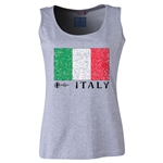 Italy Euro 2016 Flag Women's Scoopneck Tank (Grey)