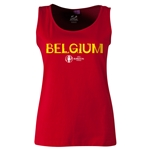 Belgium Euro 2016 Women's Core Scoopneck Tank (Red)