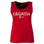 Croatia Euro 2016 Women's Core Scoopneck Tank (Red)