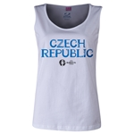 Czech Republic Euro 2016 Women's Core Scoopneck Tank (White)