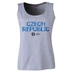 Czech Republic Euro 2016 Women's Core Scoopneck Tank (Grey)