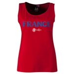 France Euro 2016 Women's Core Scoopneck Tank (Red)