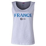 France Euro 2016 Women's Core Scoopneck Tank (White)