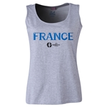 France Euro 2016 Women's Core Scoopneck Tank (Grey)