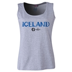 Iceland Euro 2016 Women's Core Scoopneck Tank (Grey)