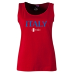Italy Euro 2016 Women's Core Scoopneck Tank (Red)