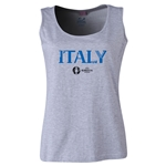 Italy Euro 2016 Women's Core Scoopneck Tank (Grey)