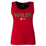 Wales Euro 2016 Women's Core Scoopneck Tank (Red)