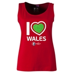 Wales Euro 2016 Women's Heart Scoopneck Tank (Red)