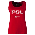 Poland Euro 2016 Women's Elements Scoopneck Tank (Red)
