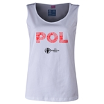 Poland Euro 2016 Women's Elements Scoopneck Tank (White)