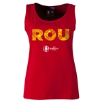 Romania Euro 2016 Women's Elements Scoopneck Tank (Red)