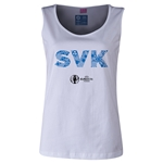 Slovakia Euro 2016 Women's Elements Scoopneck Tank (White)