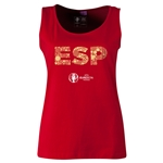 Spain Euro 2016 Women's Elements Scoopneck Tank (Red)