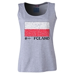 Poland Euro 2016 Women's Flag Scoopneck Tank (Grey)