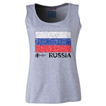 Russia Euro 2016 Women's Flag Scoopneck Tank (Grey)