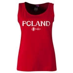 Poland Euro 2016 Women's Core Scoopneck Tank (Red)