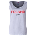 Poland Euro 2016 Women's Core Scoopneck Tank (White)