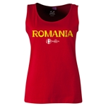 Romania Euro 2016 Women's Core Scoopneck Tank (Red)
