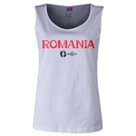 Romania Euro 2016 Women's Core Scoopneck Tank (White)