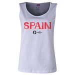 Spain Euro 2016 Women's Core Scoopneck Tank (White)