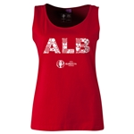 Albania Euro 2016 Women's Elements Scoopneck Tank (Red)