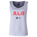 Albania Euro 2016 Women's Elements Scoopneck Tank (White)
