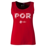 Portugal Euro 2016 Women's Elements Scoopneck Tank (Red)