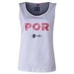 Portugal Euro 2016 Women's Elements Scoopneck Tank (White)