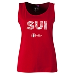 Switzerland Euro 2016 Women's Elements Scoopneck Tank (Red)