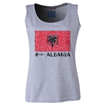 Albania Euro 2016 Women's Flag Scoopneck Tank (Grey)