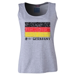 Germany Euro 2016 Women's Flag Scoopneck Tank (Grey)