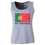 Portugal Euro 2016 Women's Flag Scoopneck Tank (Grey)