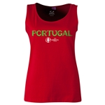 Portugal Euro 2016 Women's Core Scoopneck Tank (Red)