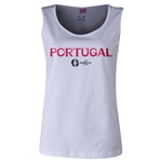 Portugal Euro 2016 Women's Core Scoopneck Tank (White)
